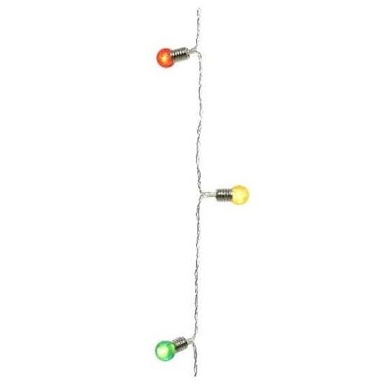 Kerst lampjes gekleurd op batterijen 190 cm voor binnen