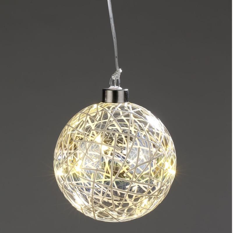 Kerst lichtsnoer met decoratieve fitting 10 cm