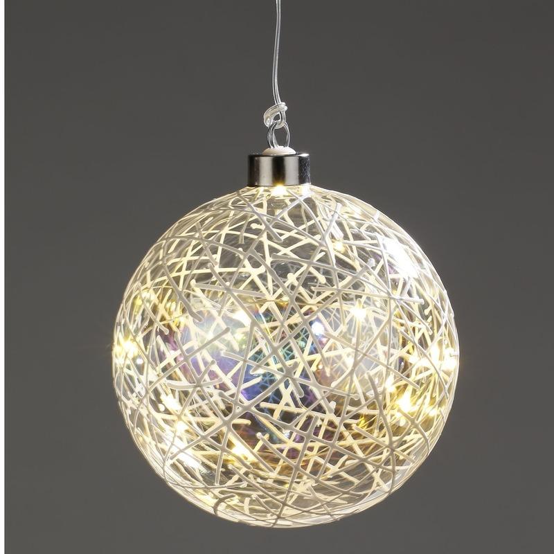 Kerst lichtsnoer met decoratieve fitting 12 cm