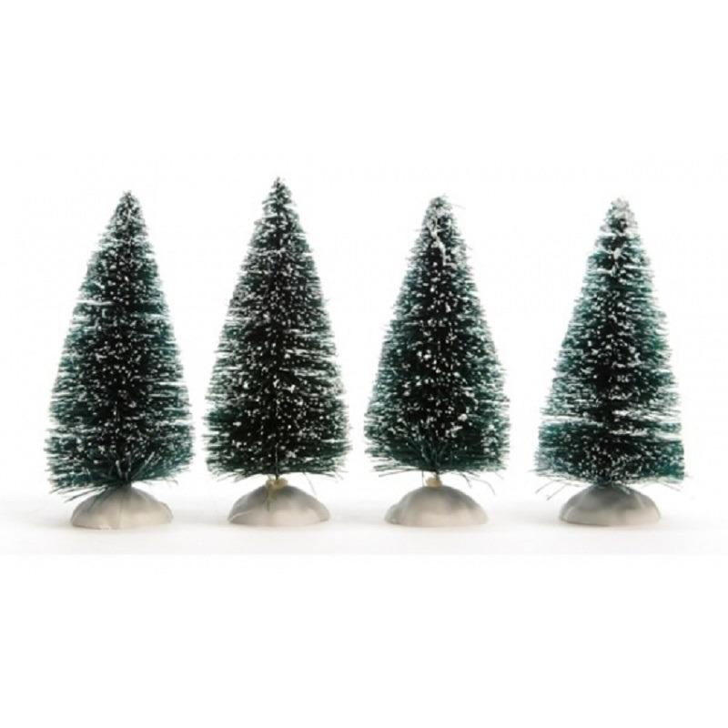 Kerstdorp maken 24x kerstbomen 10 cm