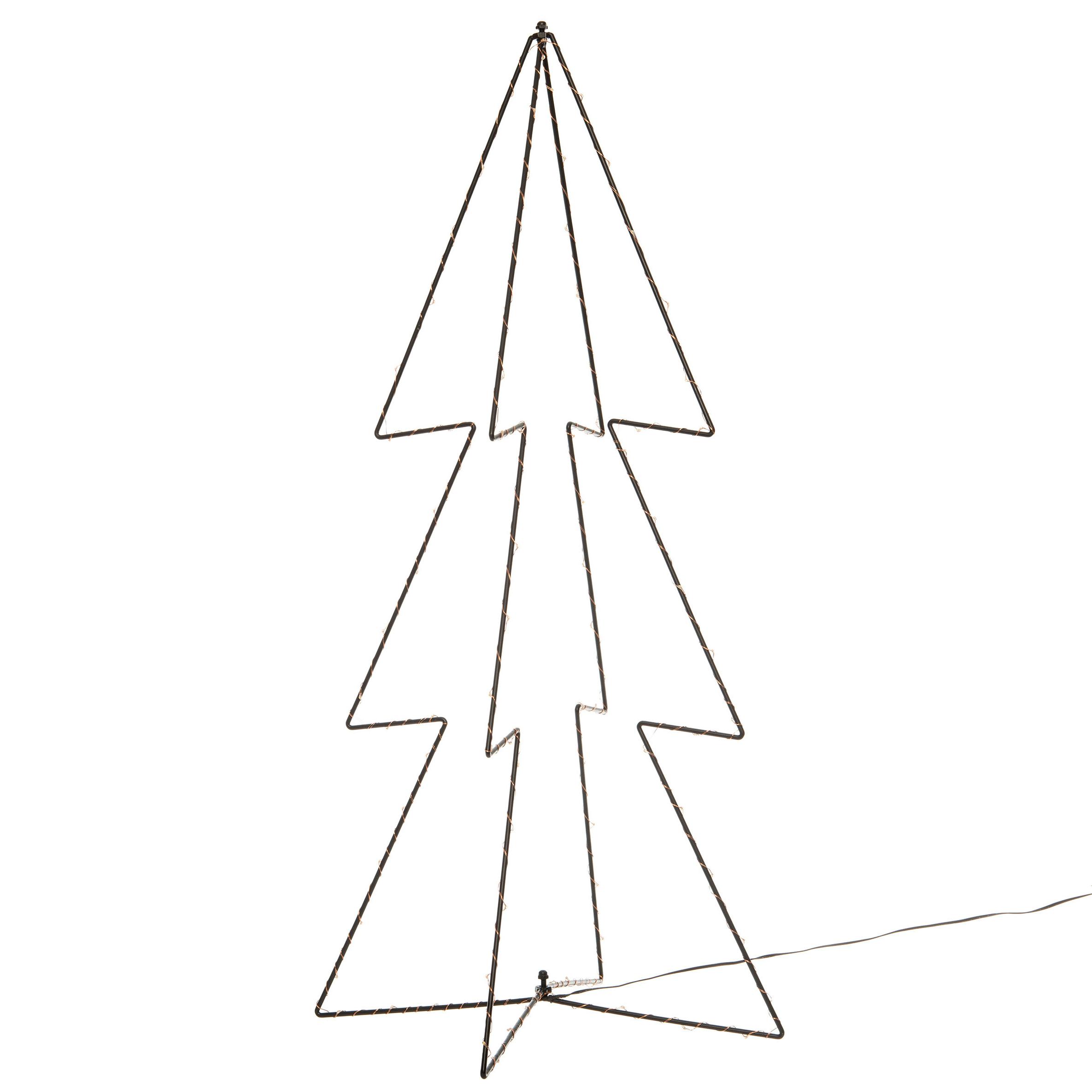 Kerstverlichting 3D kerstbomen met 90 lampjes 91 cm