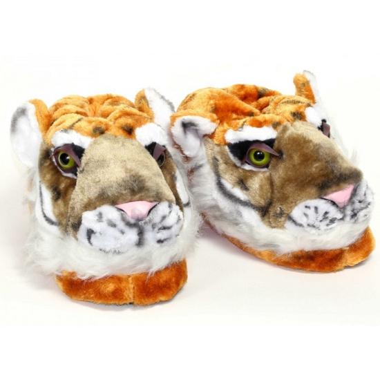 Kinder dieren pantoffels tijger