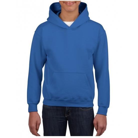 Kobalt blauwe hooded jongens sweater