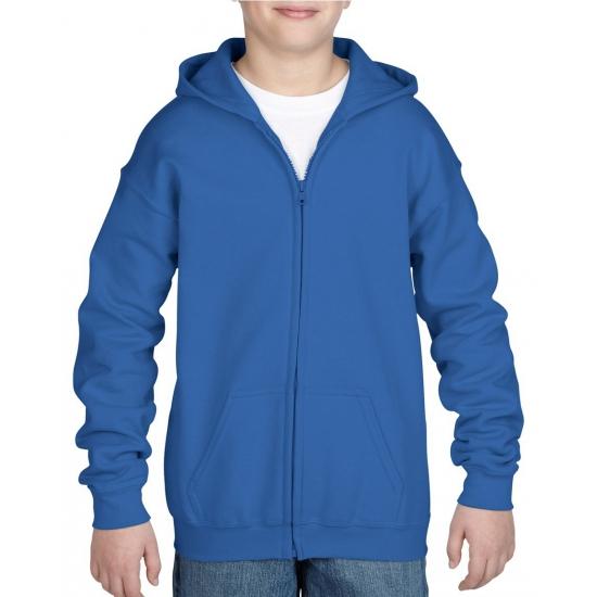 Kobalt blauwe sweater met rits voor jongens
