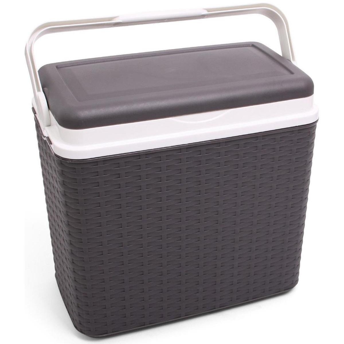Koelbox antraciet grijs rotan 10 liter 30 x 19 x 28 cm
