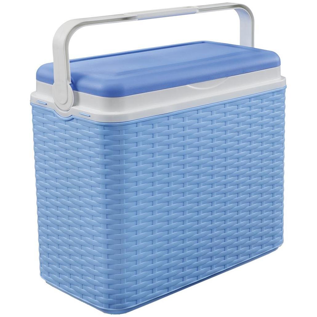 Koelbox blauw rotan 24 liter 40 x 24 x 38 cm