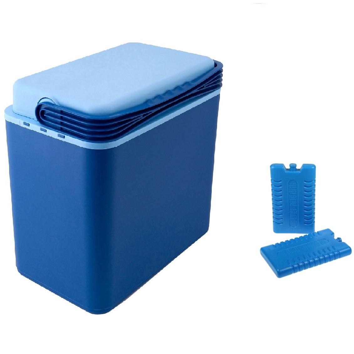 Koelbox donkerblauw 24 liter 39 x 25 x 40 cm incl. 2 koelelementen