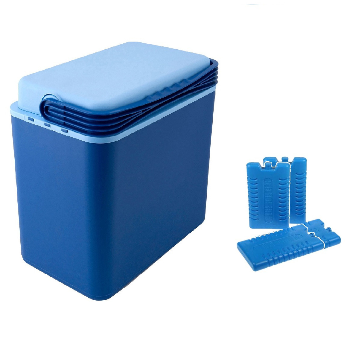 Koelbox donkerblauw 24 liter 39 x 25 x 40 cm incl. 4 koelelementen