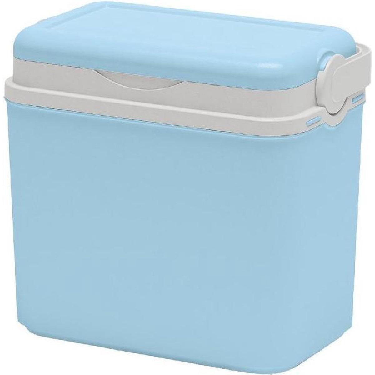 Koelbox lichtblauw 10 liter van 30 x 19 x 28 cm