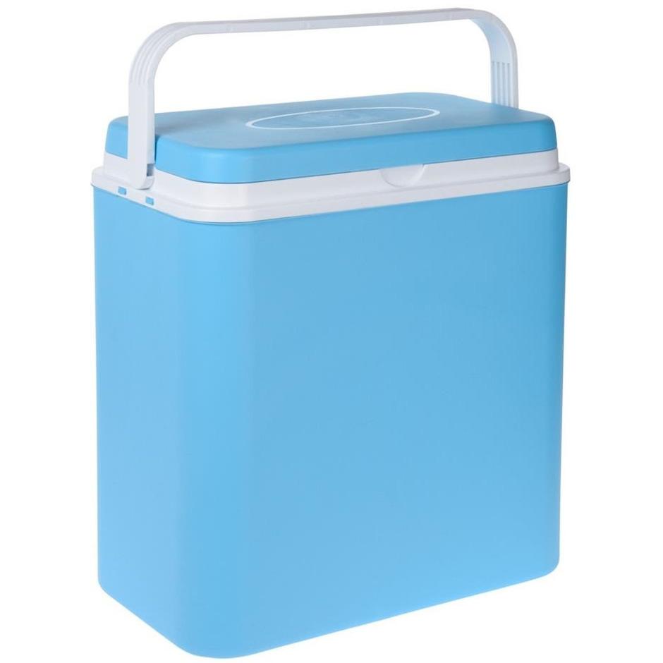 Koelbox lichtblauw 24 liter 39 x 25 x 38 cm