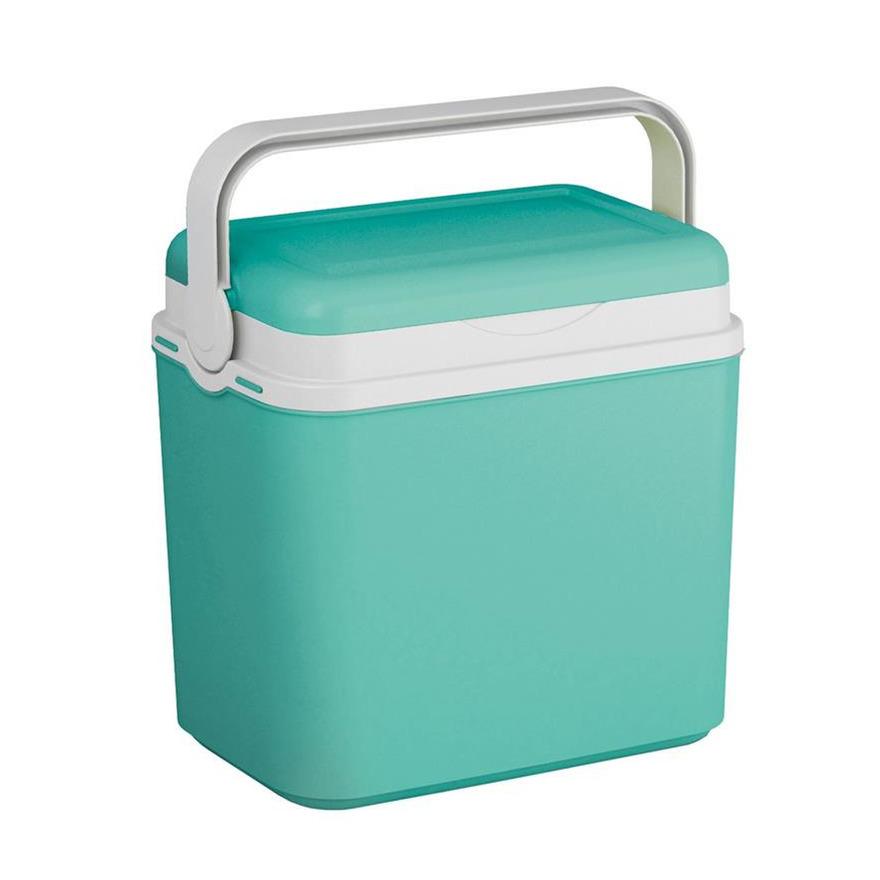 Koelbox turquoise groen 10 liter 30 x 19 x 28 cm