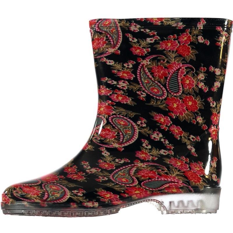 Korte regenlaarzen met paisley voor dames