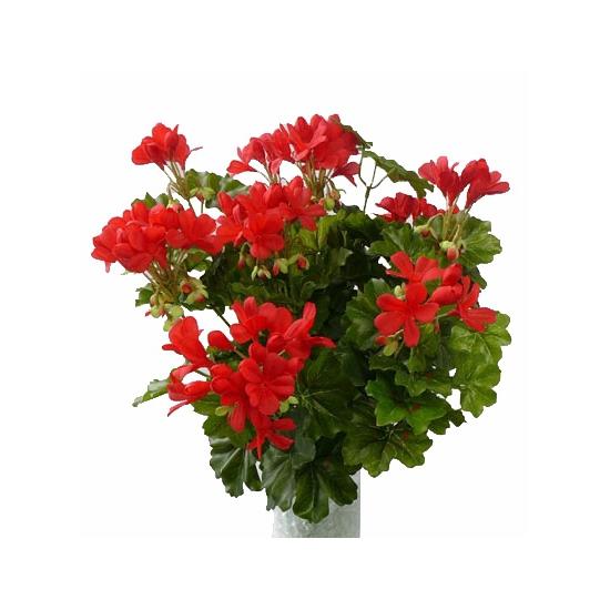 Kunst nep plant geranium rood 40 cm