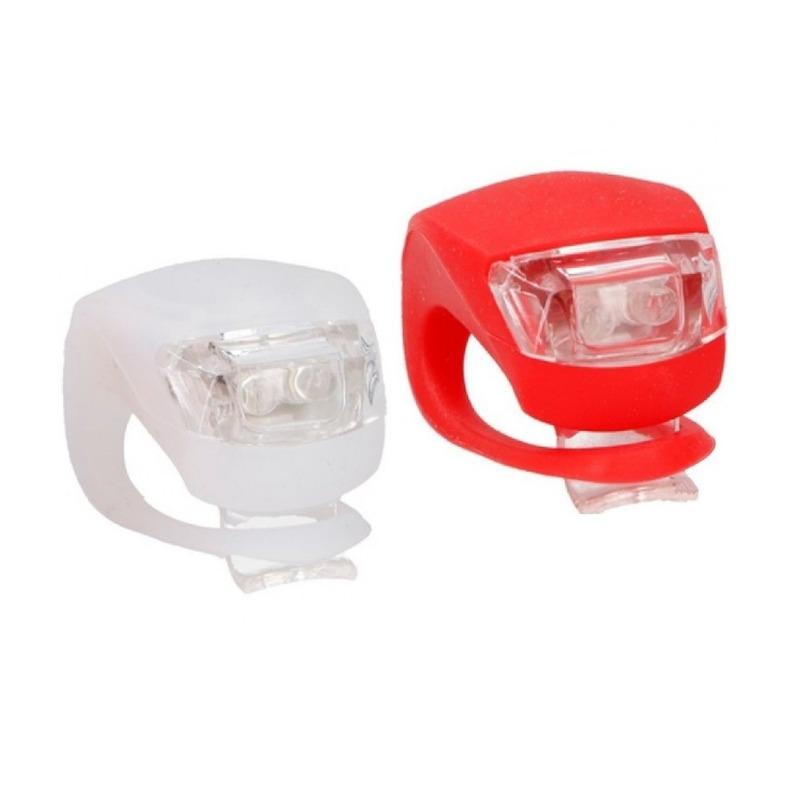 LED fietslampjes set voorlicht en achterlicht siliconen
