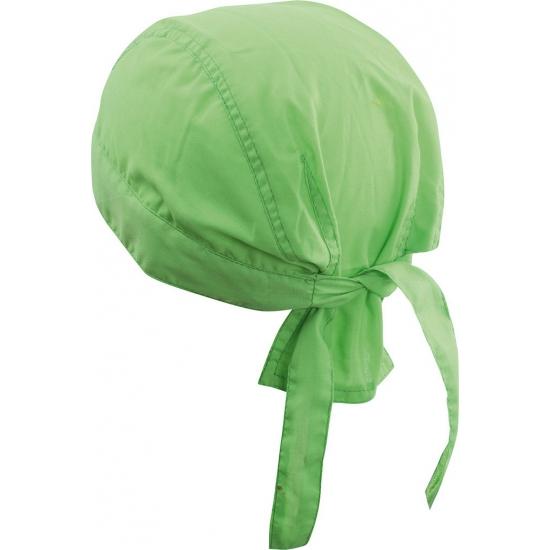 Lime kleurige bandana uni 1