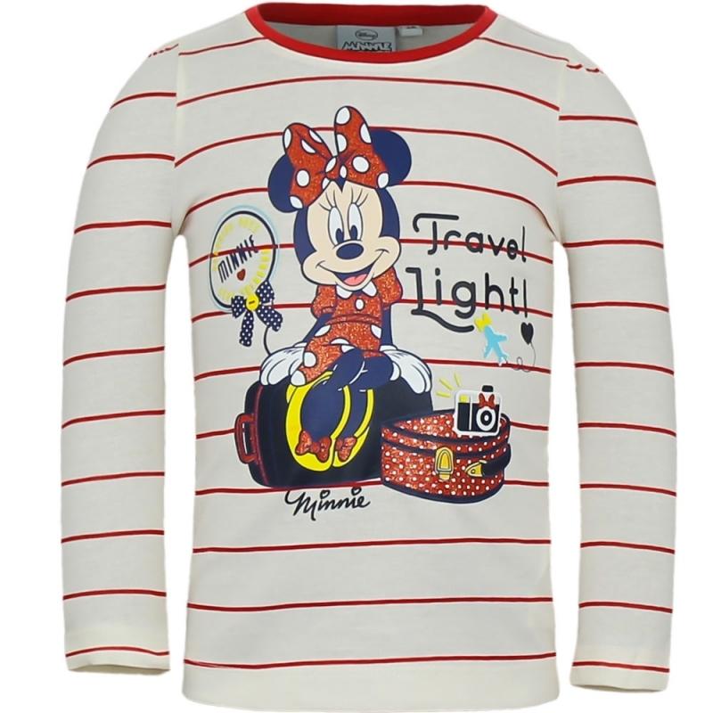 Minnie Mouse shirt lange mouw wit voor meisjes