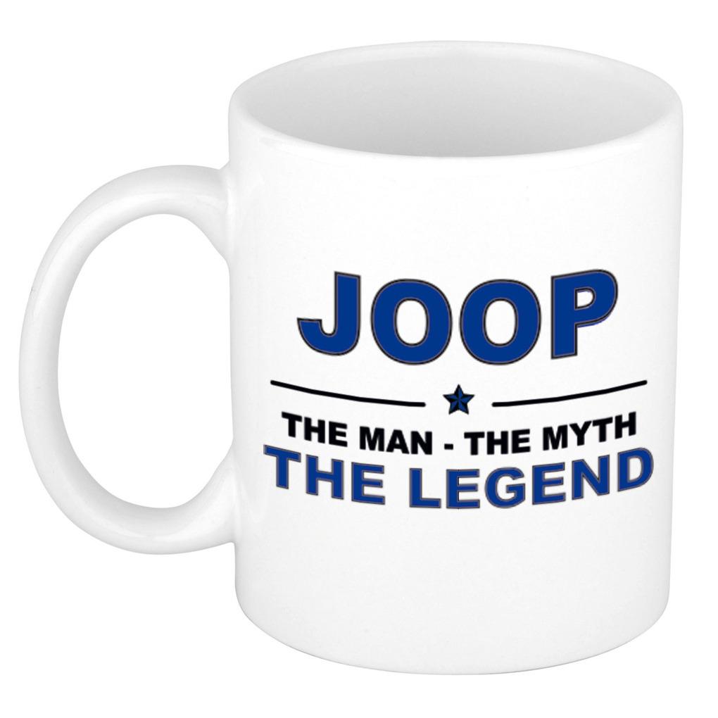 Naam cadeau mok- beker Joop The man, The myth the legend 300 ml