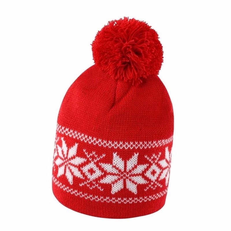 Nordic wintermuts rood met wit
