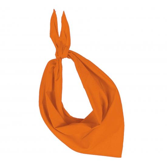 Oranje hals zakdoeken bandana style