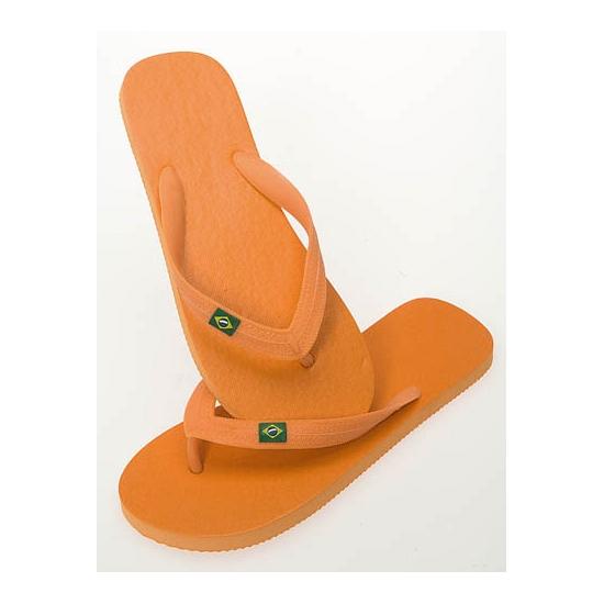 Oranje slippers voor dames