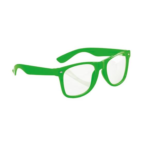 Party brillen neon groen