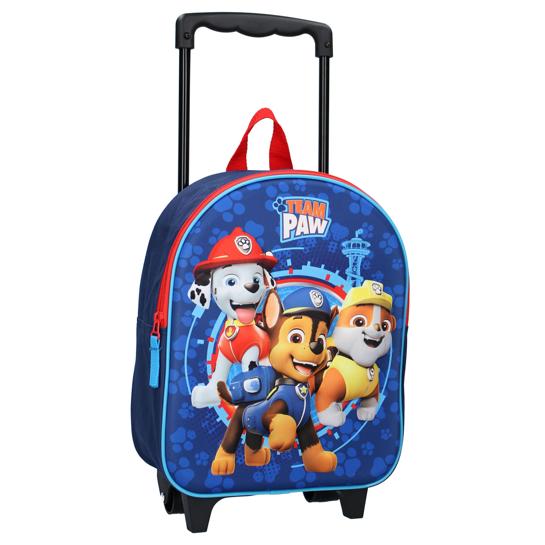 Paw Patrol koffer op wieltjes blauw 32 cm voor kinderen