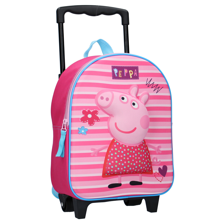 Peppa Pig koffer op wieltjes roze 31 cm voor kinderen