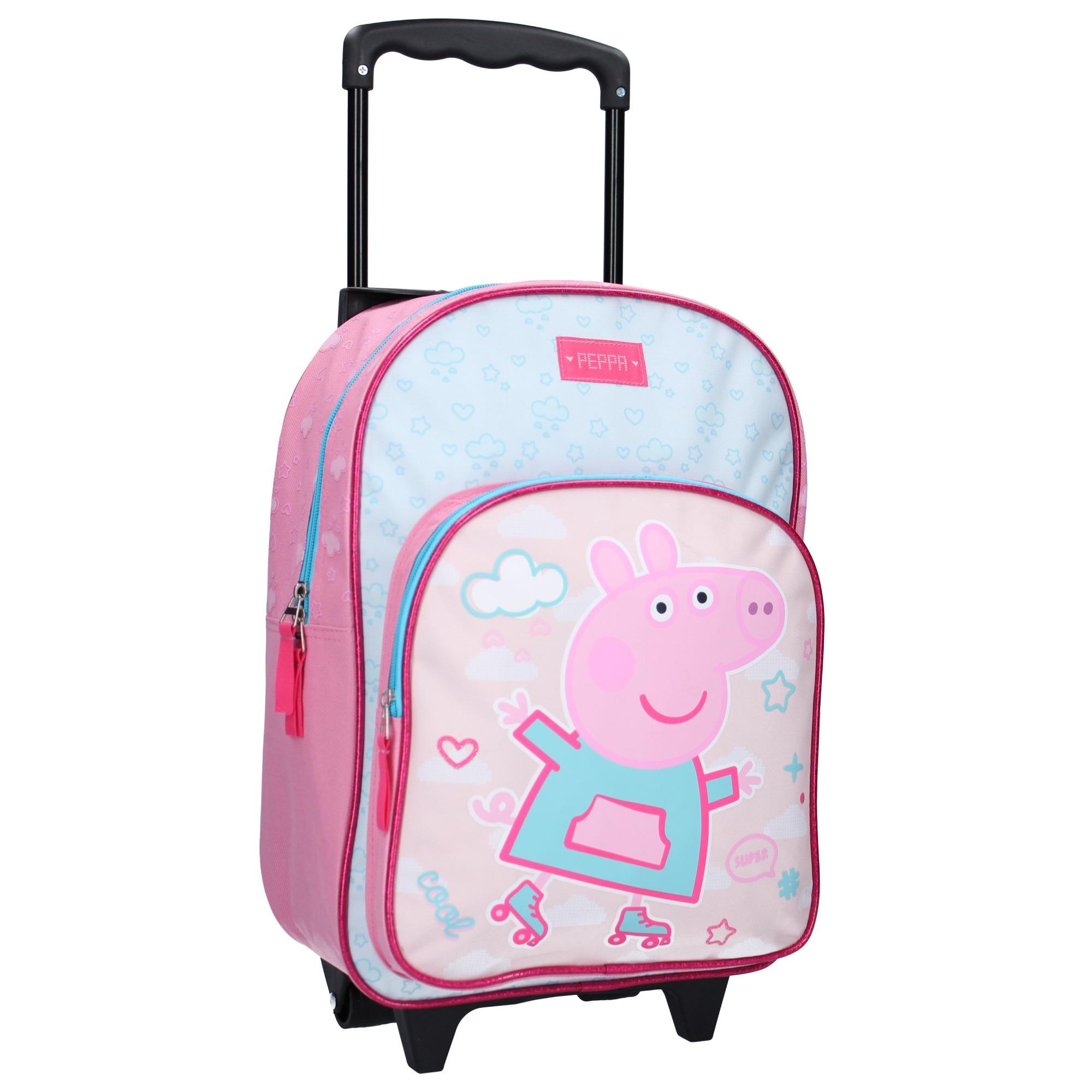 Peppa Pig koffer op wieltjes roze 38 cm voor kinderen
