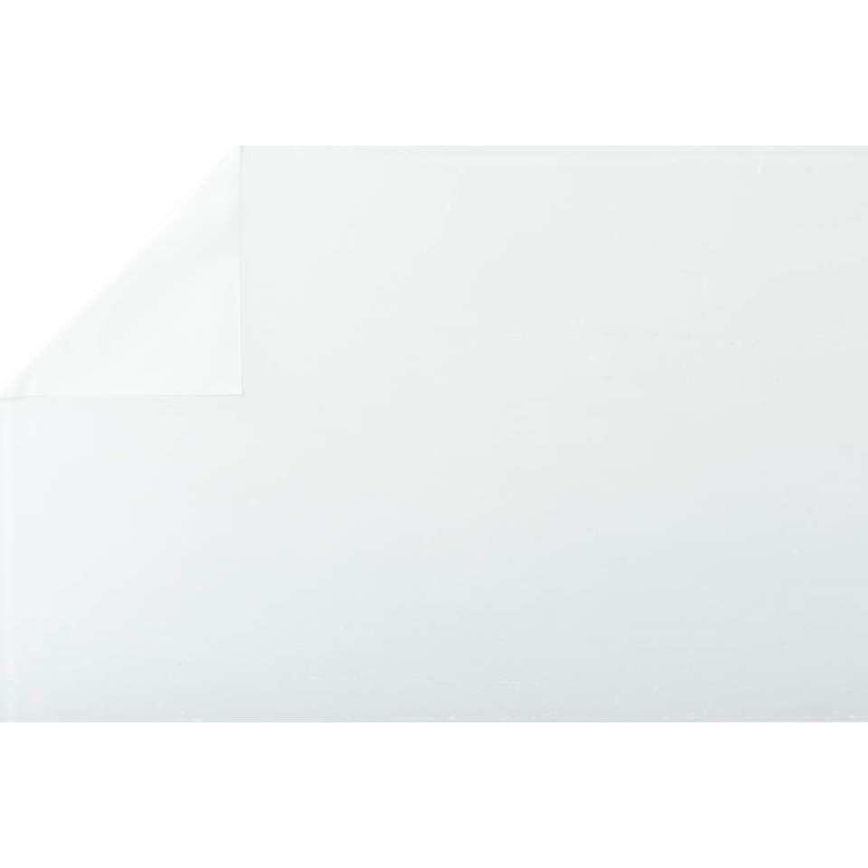 Raamfolie wit semi transparant 45 cm x 2 meter zelfklevend