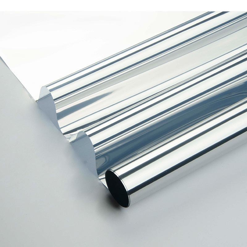 Raamfolie zonwerend semi transparant-zilver 90 cm x 2 meter statisch