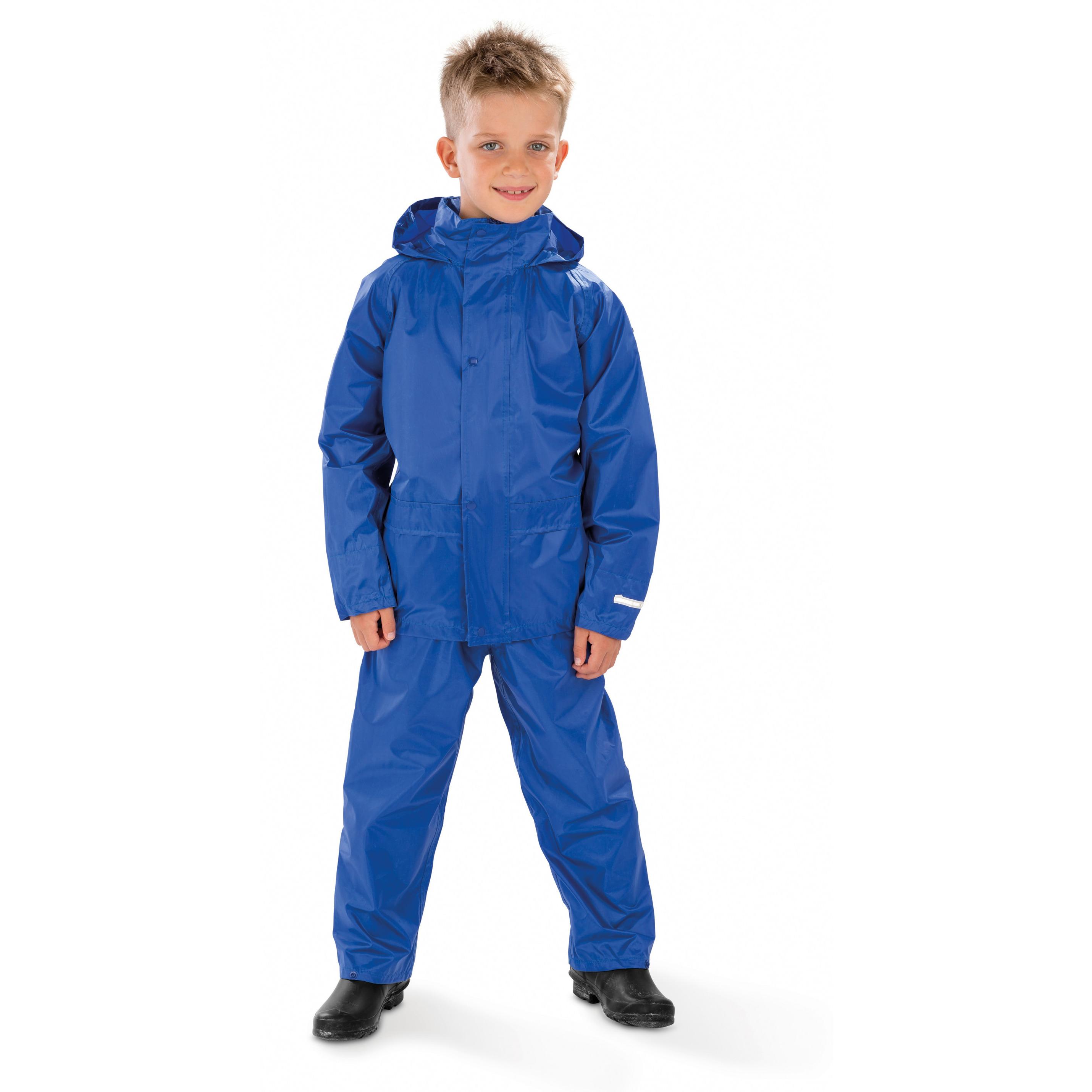 Regenpakken kobaltblauw voor jongens
