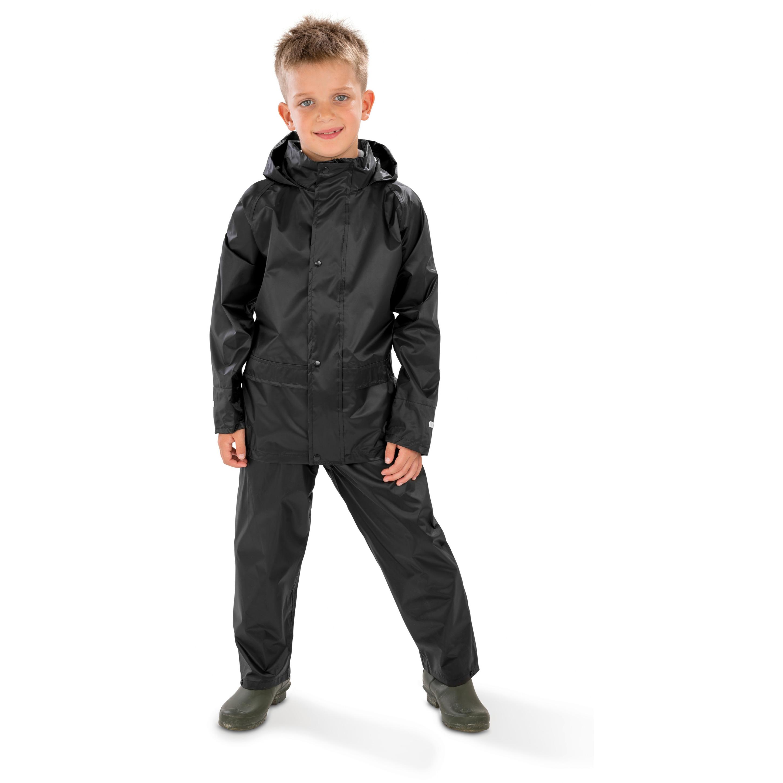 Regenpakken zwart voor jongens