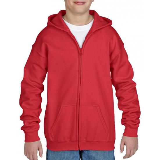 Rode sweater met rits voor jongens