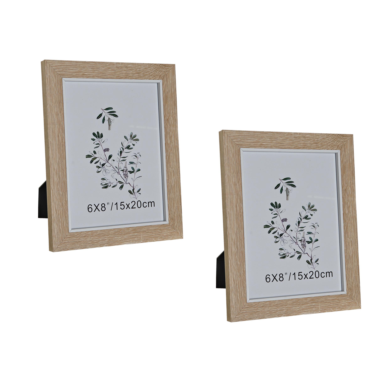 Set van 3x stuks fotolijstjes naturel geschikt voor een foto van 15 x 20 cm
