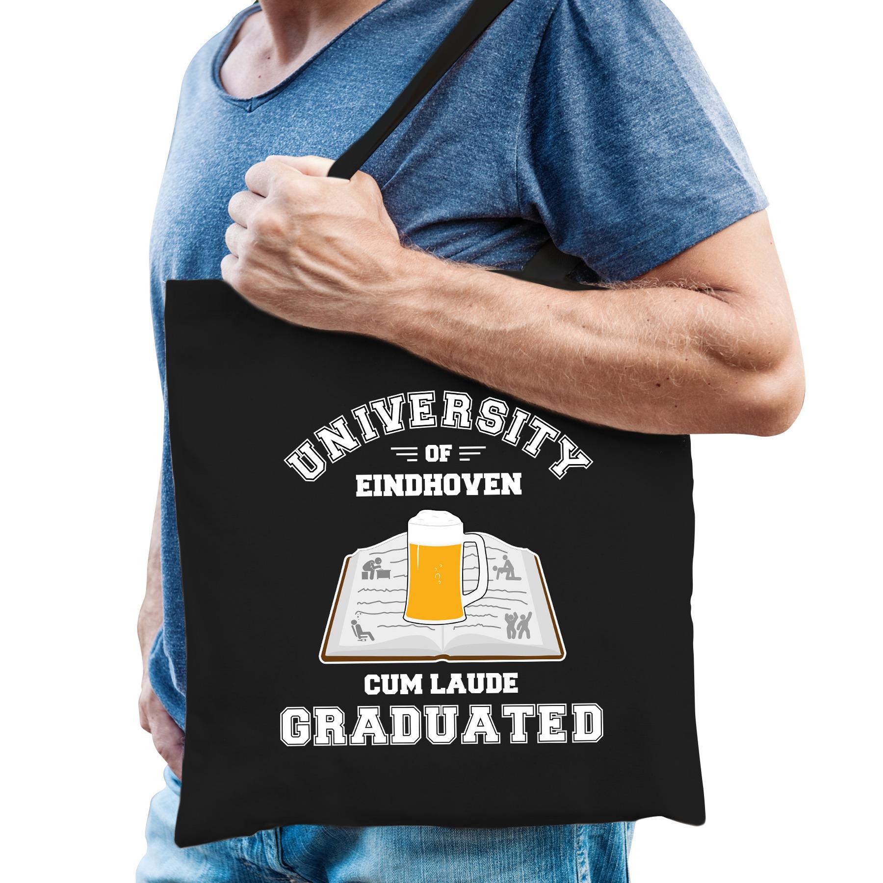 Studenten carnaval verkleed tas zwart university of Eindhoven afgestudeerd heren
