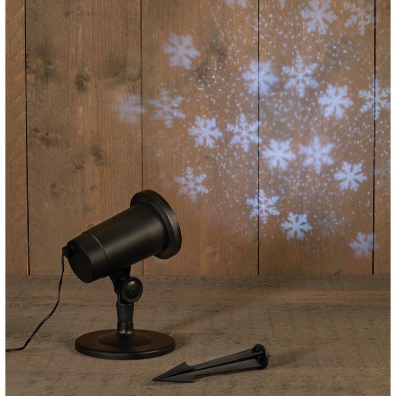 Tuin projector winter landschap sneeuw storm
