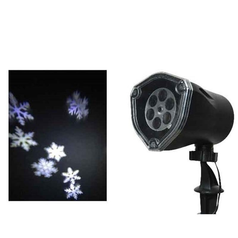 Tuin projector winter landschap sneeuwvlokken