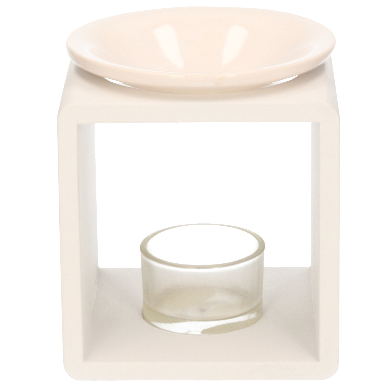Vierkante geurolie-scented chips-waxmelts brander 10 x 10 x 12 cm