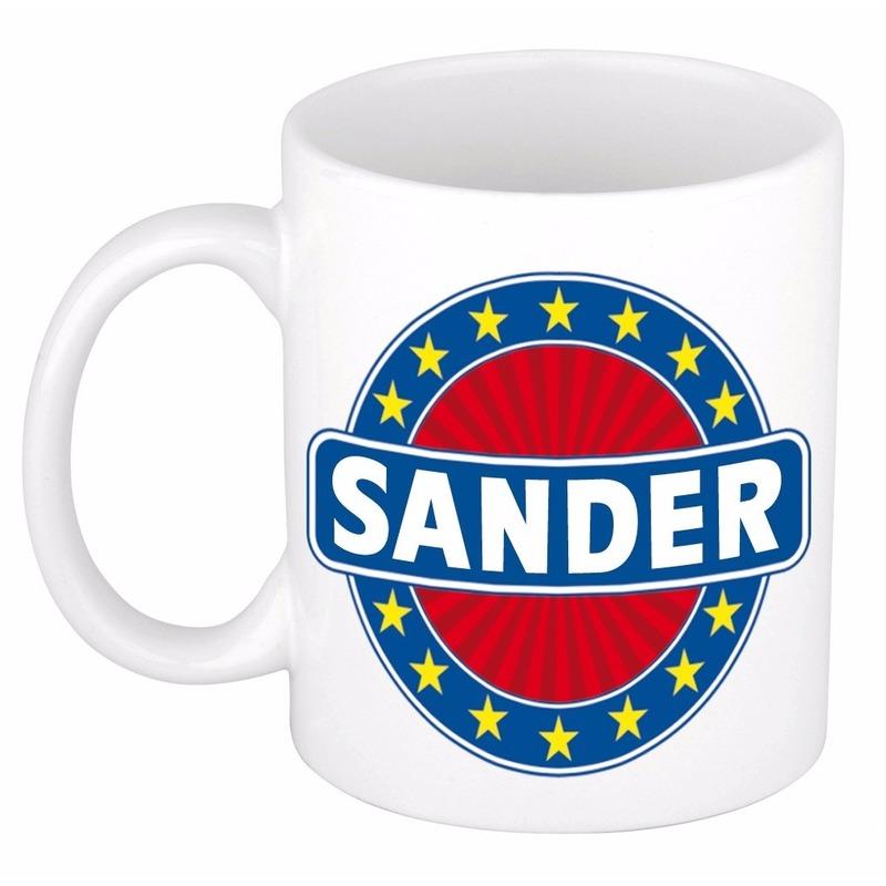 Voornaam Sander koffie-thee mok of beker