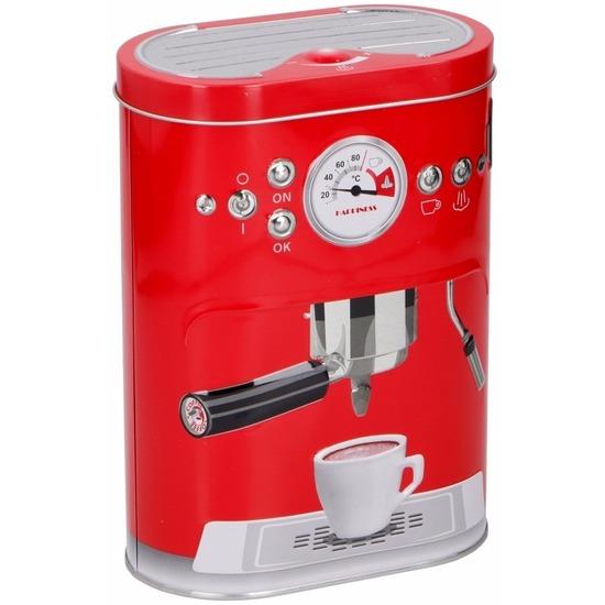 Voorraadblik voor koffie-pads-cups rood 17 cm
