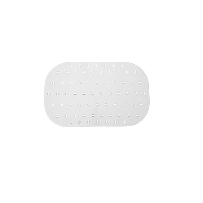 Witte bad-douchemat anti-slip 54 x 35 cm