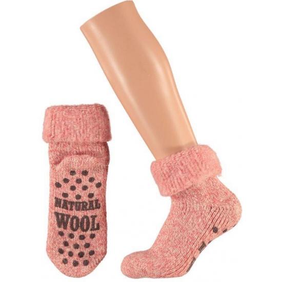 Wollen dames sokken roze
