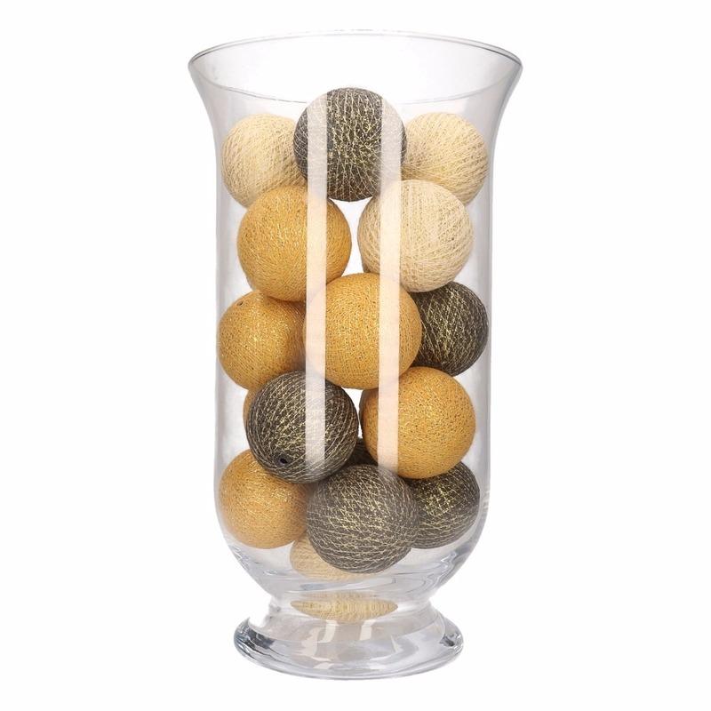 Woondecoratie witte-gouden-antracieten verlichting in vaas