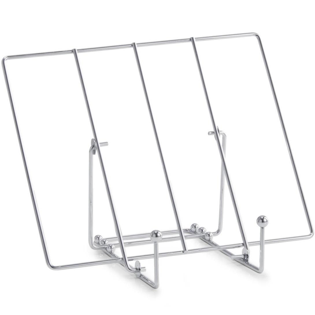 Zilveren tablet-iPad standaard-houder metaal 30 cm