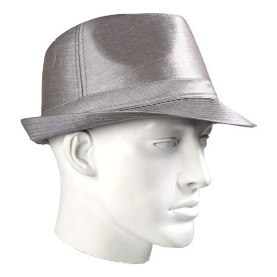 Zilveren Timberlake hoed glimmend