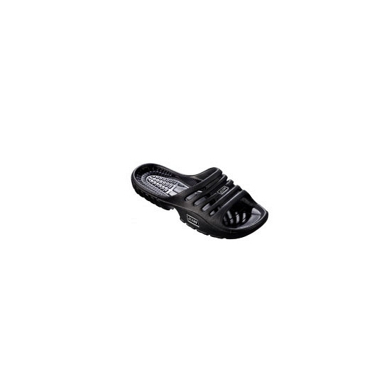 Zwarte strand slippers voor dames